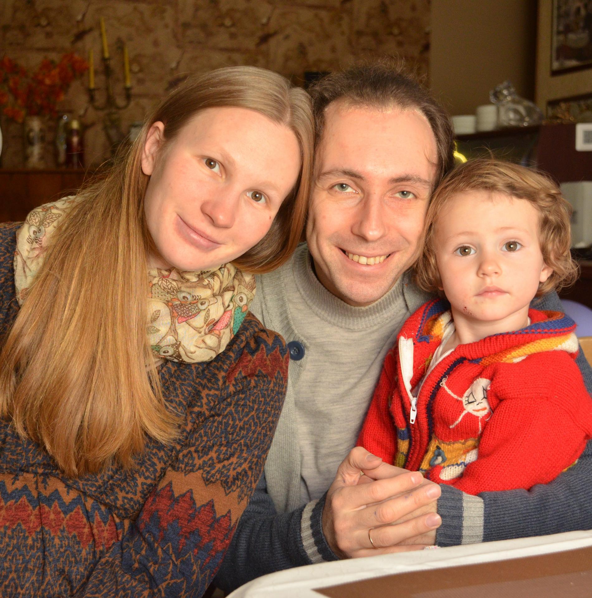 Андрей Свяцкий с семьей
